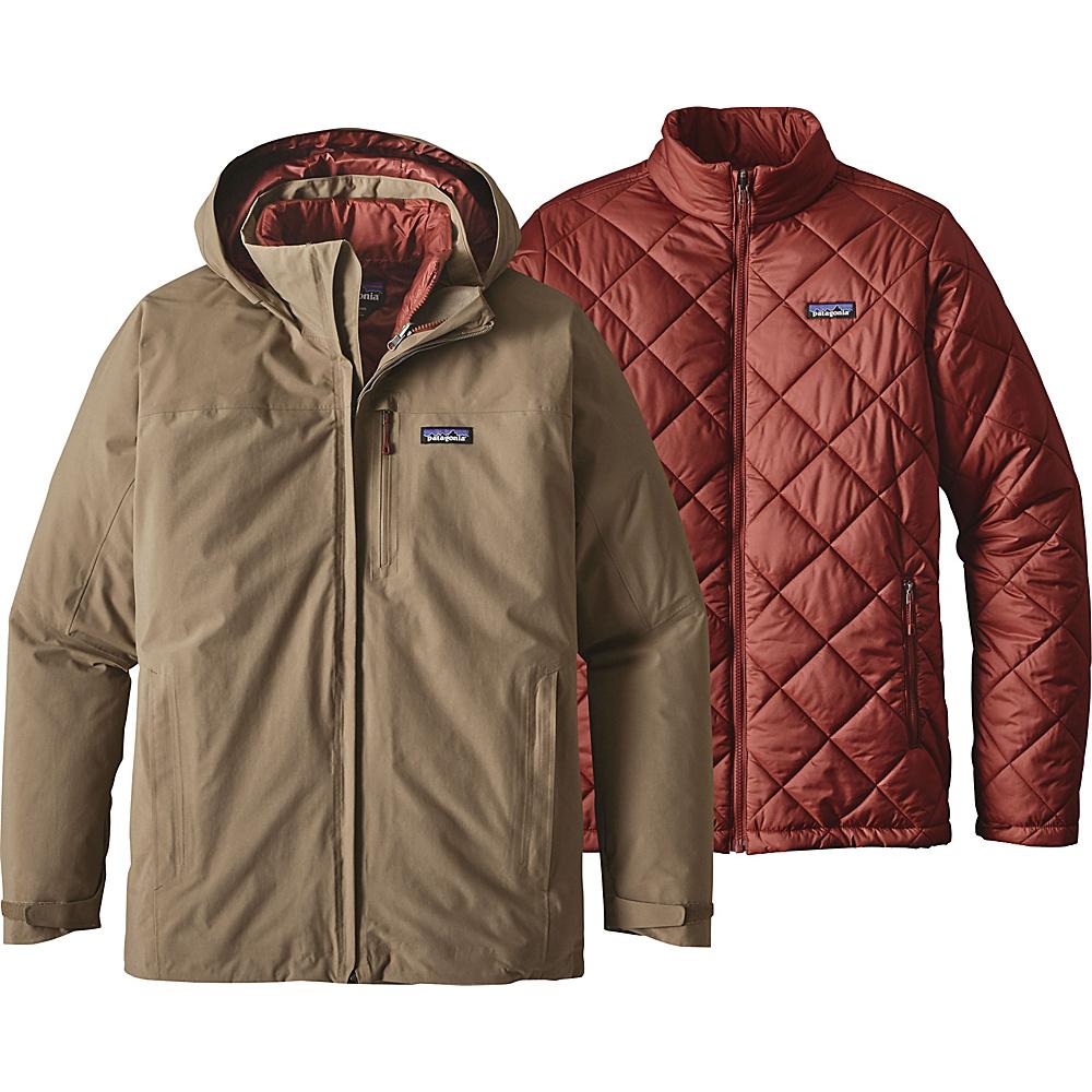 Patagonia Mens Windsweep 3-in-1 Jacket XS - Ash Tan - Patagonia Mens Apparel - Apparel & Footwear, Men's Apparel