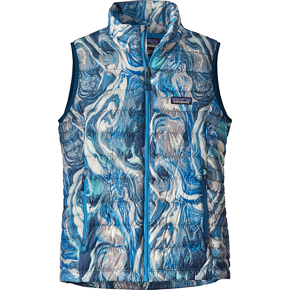 Patagonia Womens Down Sweater Vest S - Rivermouth: Big Sur Blue - Patagonia Womens Apparel - Apparel & Footwear, Women's Apparel