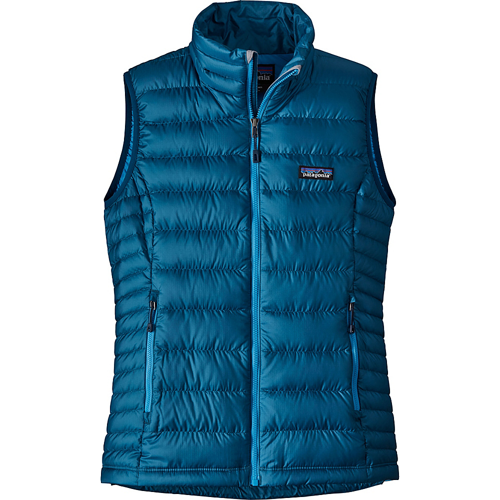 Patagonia Womens Down Sweater Vest S - Big Sur Blue - Patagonia Womens Apparel - Apparel & Footwear, Women's Apparel