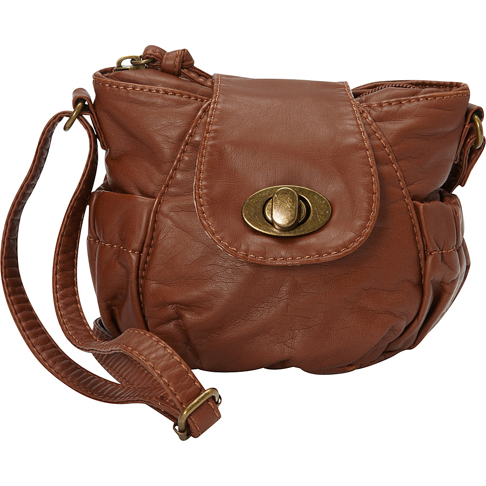 Ampere Creations Jeannie Mini Crossbody Brown – Ampere Creations Manmade Handbags