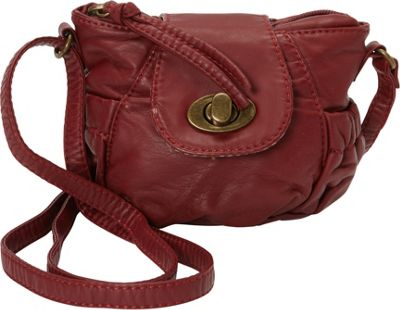 Ampere Creations Ampere Creations Jeannie Mini Crossbody Burgundy - Ampere Creations Manmade Handbags
