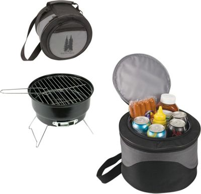 Koolulu 2-in-1 Cooler Tote & 10 inch Charcoal BBQ Black - Koolulu Travel Coolers