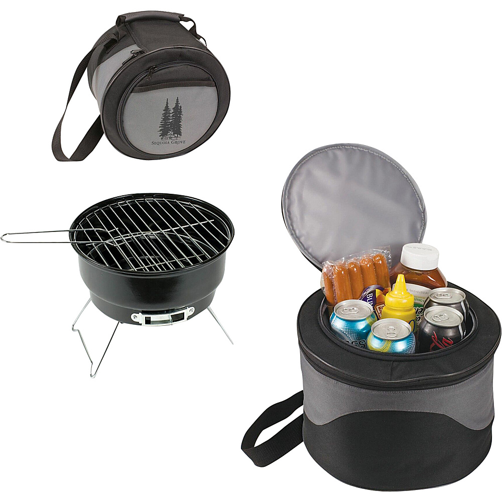 Koolulu 2 in 1 Cooler Tote 10 Charcoal BBQ Black Koolulu Travel Coolers