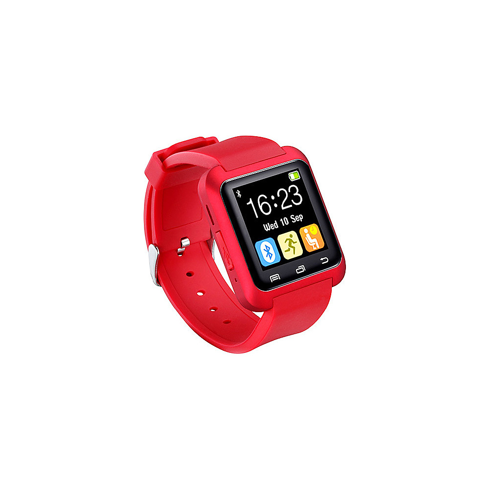 Koolulu Bluetooth Smart Watch for iOS Android Red Koolulu Wearable Technology