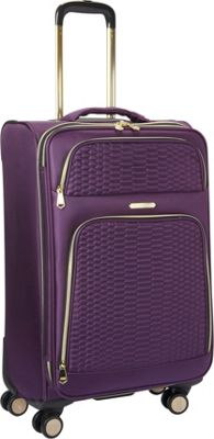 Aimee Kestenberg Florence Collection 24 inch Upright Plum - Aimee Kestenberg Softside Checked