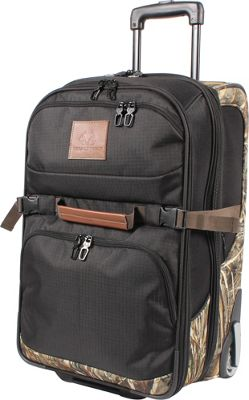 RealTree Adventure 20 inch Expandable Upright Duffel Black - RealTree Rolling Duffels