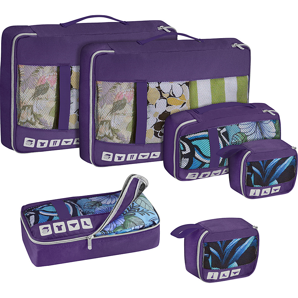 U.S. Traveler Alamosa 6 Piece Packing Cube Set Purple U.S. Traveler Travel Organizers