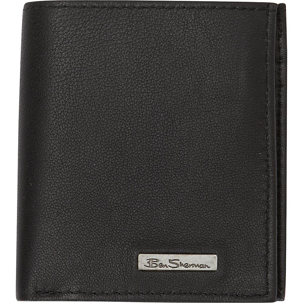 Ben Sherman Luggage Brick Lane Collection Leather Slim Square Passcase Bi Fold Wallet Black Ben Sherman Luggage Men s Wallets