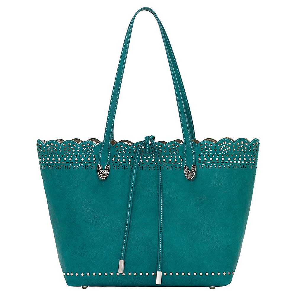 Bandana Darlington Filigree Day Tote Turquoise Bandana Manmade Handbags