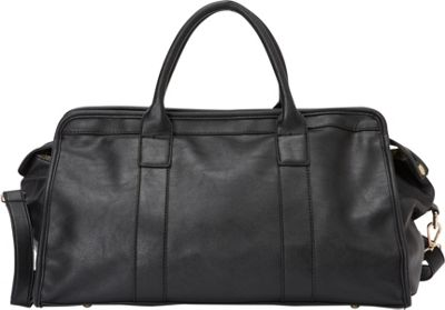 nu G Classic Smooth Weekender Bag Black - nu G Luggage Totes and Satchels