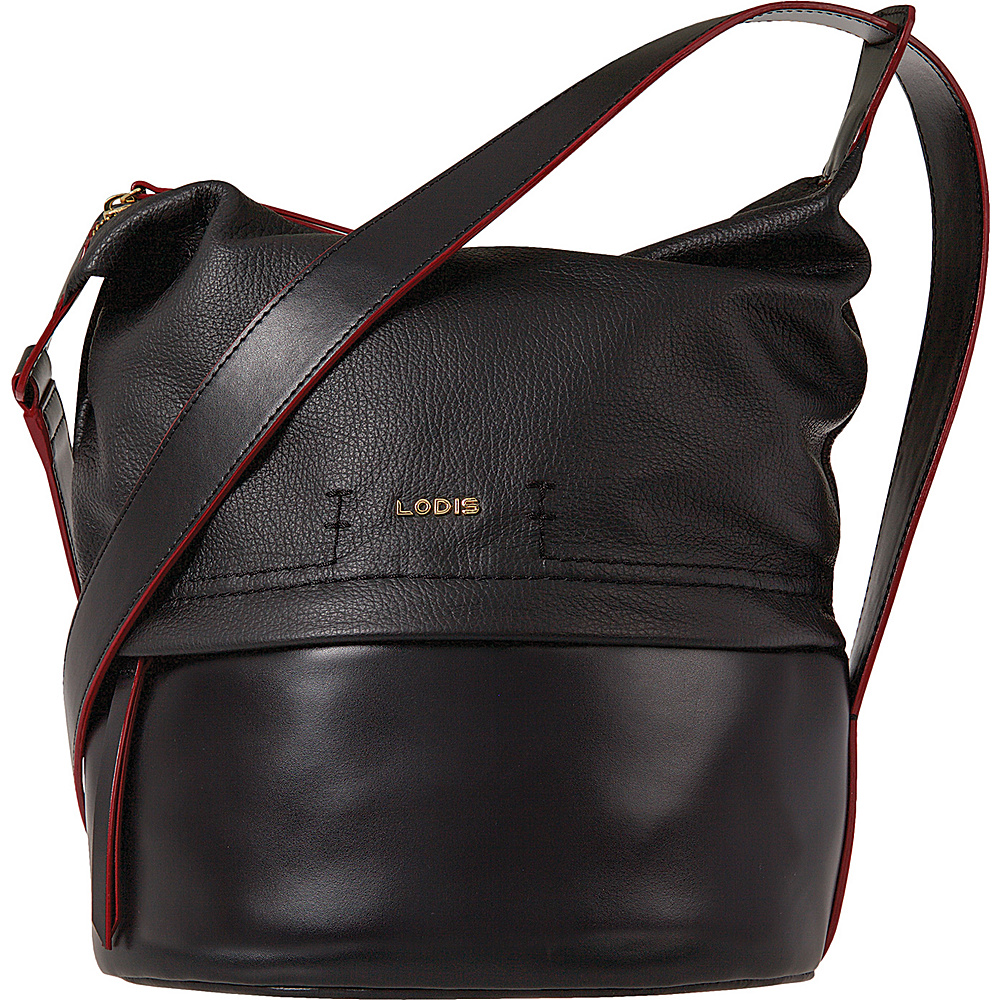 Lodis Kate Toby Convertible Bucket Black - Lodis Leather Handbags - Handbags, Leather Handbags