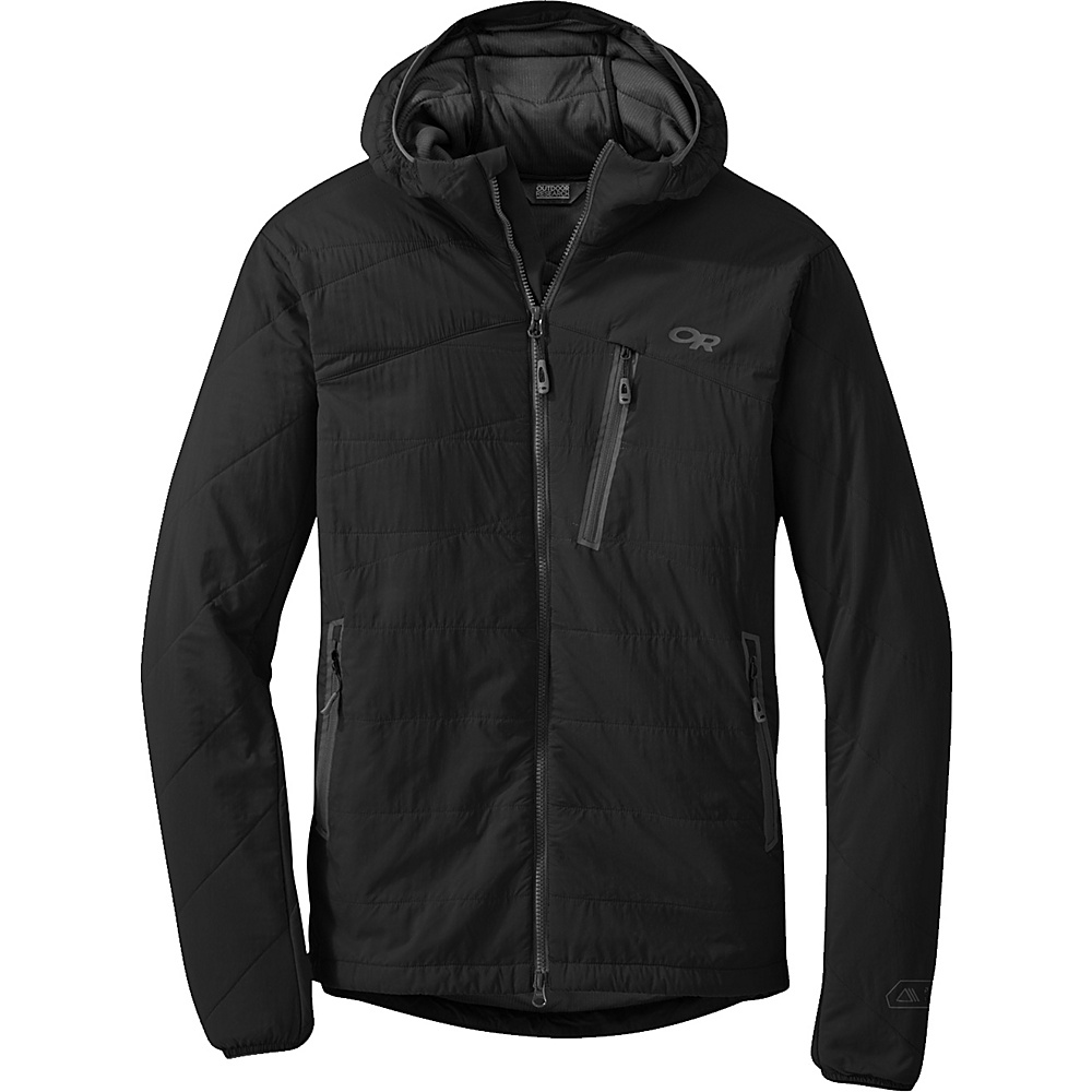 Outdoor Research Uberlayer Hooded Jacket 2XL - Black - Outdoor Research Mens Apparel - Apparel & Footwear, Men's Apparel
