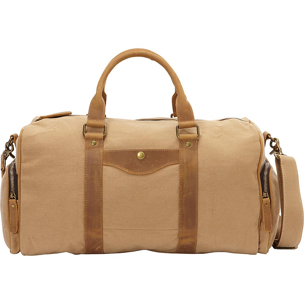Vagabond Traveler Classic Medium Canvas Duffle Bag Khaki - Vagabond Traveler Travel Duffels - Duffels, Travel Duffels
