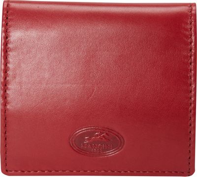 Mancini Leather Goods Manchester Collection: Men's Coin Pocket Wallet Red - Mancini Leather Goods Men's Wallets