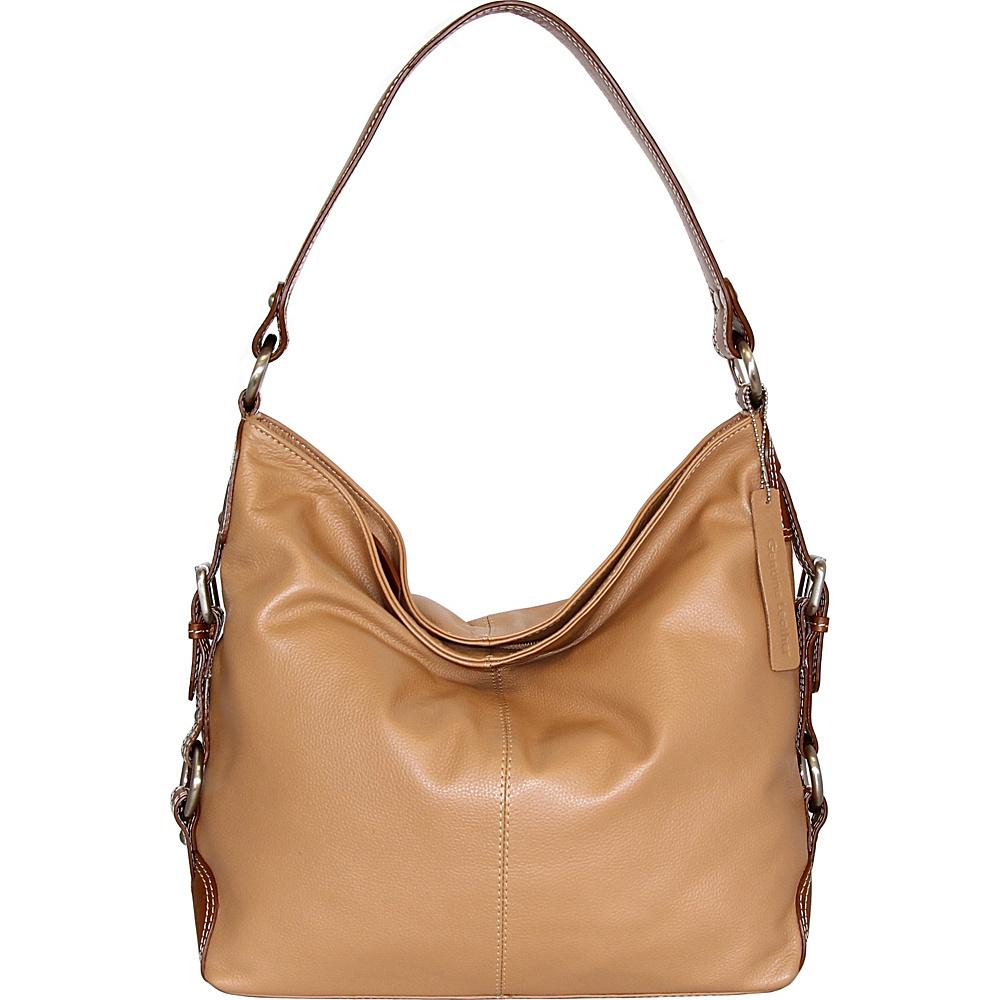 Nino Bossi Violet Bloom Bucket Bag Peanut - Nino Bossi Leather Handbags - Handbags, Leather Handbags