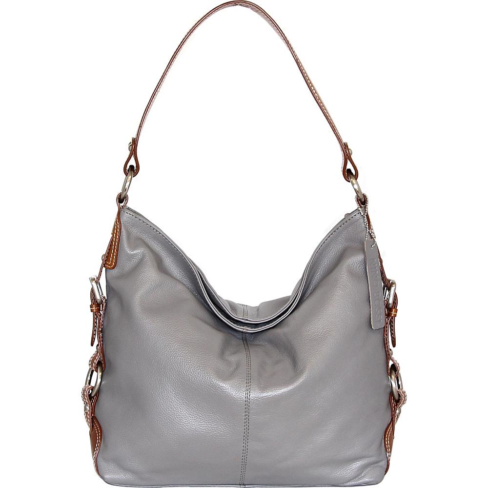 Nino Bossi Violet Bloom Bucket Bag Stone - Nino Bossi Leather Handbags - Handbags, Leather Handbags