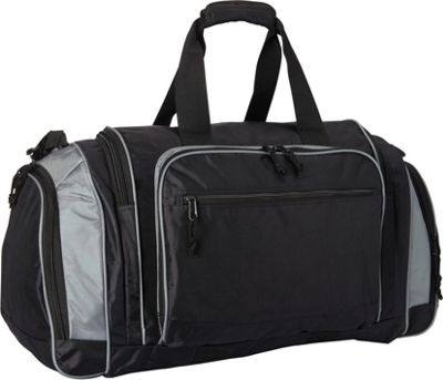 Fox Outdoor Jumbo Covert-Carry Sport Duffel Black/Grey - Fox Outdoor Gym Duffels