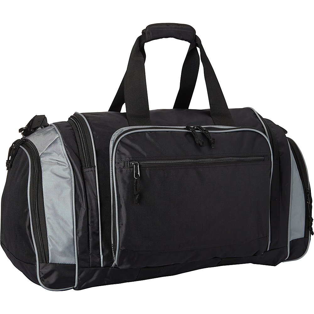 Fox Outdoor Jumbo Covert Carry Sport Duffel Black Grey Fox Outdoor Gym Duffels