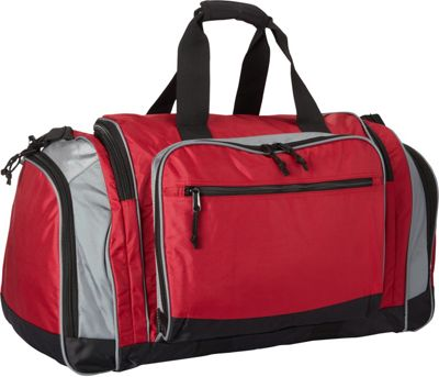 Fox Outdoor Jumbo Covert-Carry Sport Duffel Burgundy/Grey - Fox Outdoor Gym Duffels 10481167
