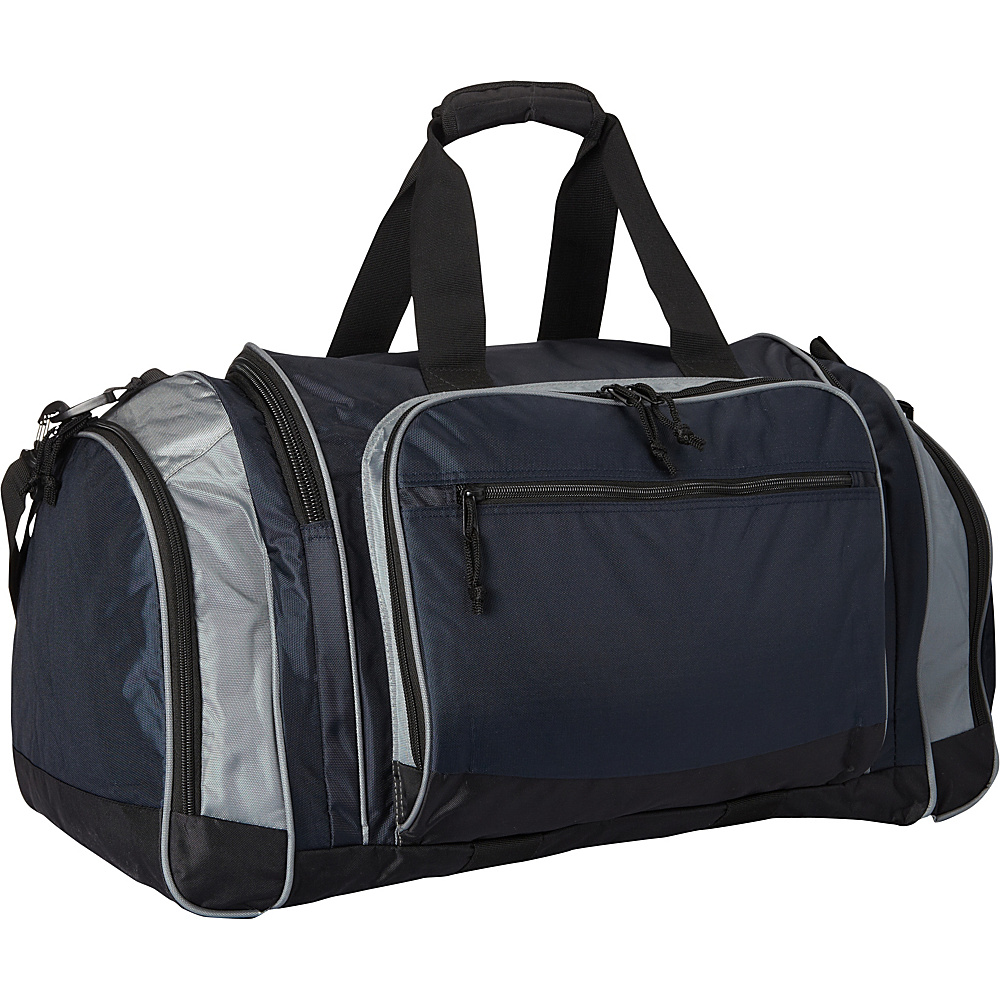 Fox Outdoor Jumbo Covert Carry Sport Duffel Navy Blue Grey Fox Outdoor Gym Duffels