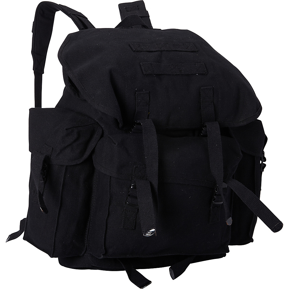 Fox Outdoor Large NATO Style Rucksack Black - Fox Outdoor Everyday Backpacks