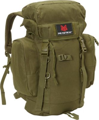 Fox Outdoor Rio Grande 25L Backpack Olive Drab - Fox Outdoor Day Hiking Backpacks