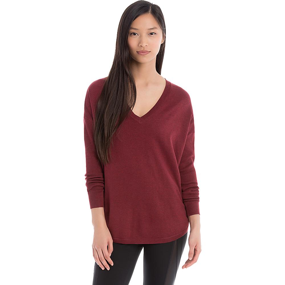 Lole Martha Sweater XS - Rumba Red Heather - Lole Womens Apparel - Apparel & Footwear, Women's Apparel