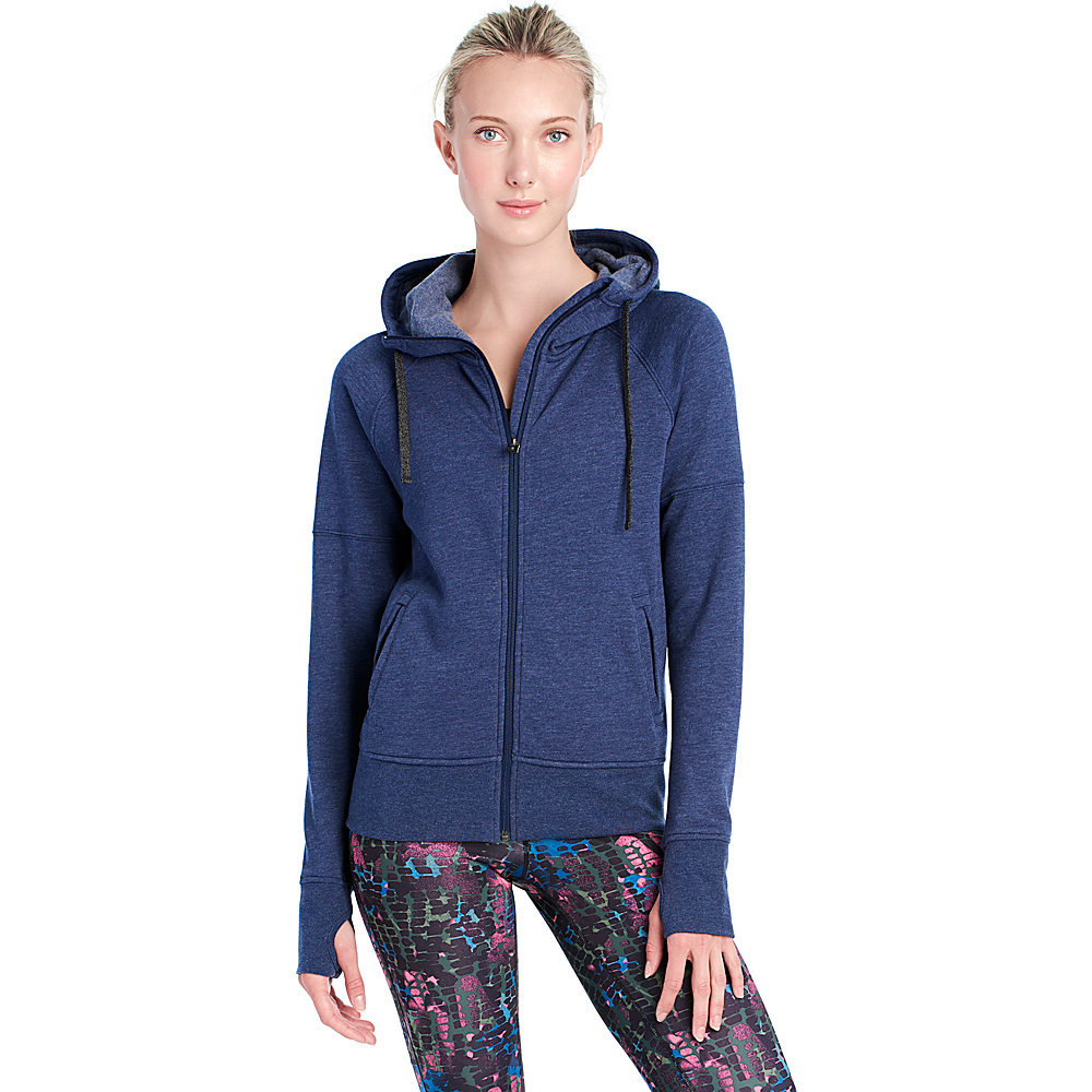Lole Unite Hooded Cardigan XS - Amalfi Blue Heather - Lole Womens Apparel - Apparel & Footwear, Women's Apparel
