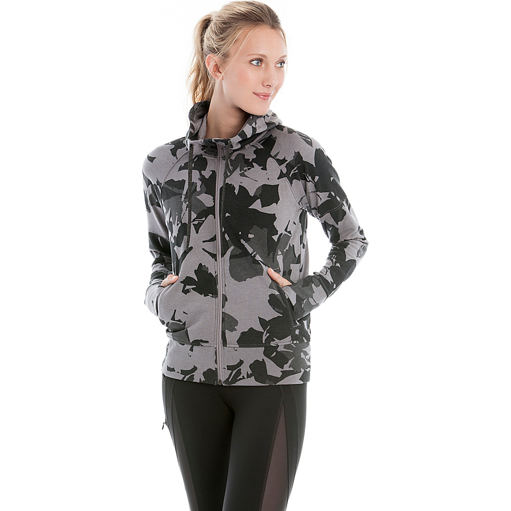 Lole Unite Hooded Cardigan XS - Black Drizzle - Lole Womens Apparel - Apparel & Footwear, Women's Apparel