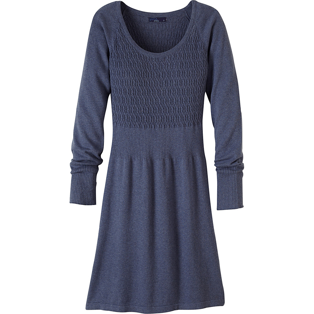 PrAna Zora Dress S - Gray Indigo - PrAna Womens Apparel - Apparel & Footwear, Women's Apparel