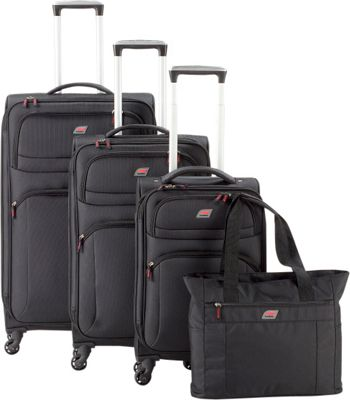 Andare Buenos Aires 4-Piece Luggage Set Black - Andare Luggage Sets