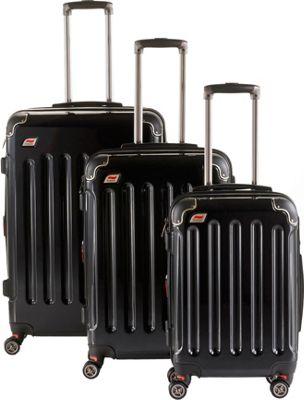Andare Barcelona 8 Wheel Spinner Upright 3-Piece Luggage Set Onyx - Andare Luggage Sets