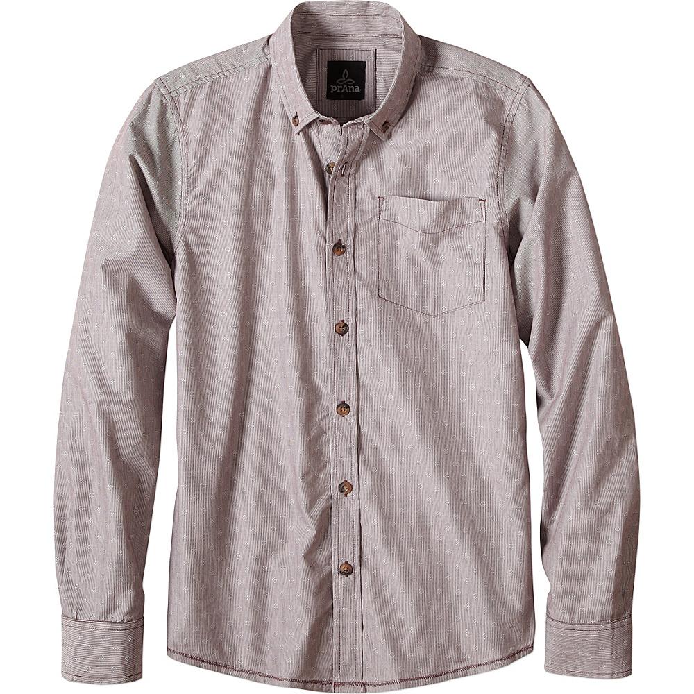 PrAna Reinhold Shirt M - Eggplant - PrAna Mens Apparel - Apparel & Footwear, Men's Apparel