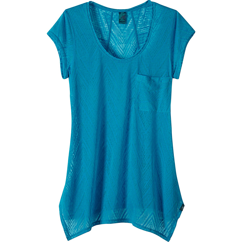 PrAna Skyler Top XL - Electro Blue - PrAna Womens Apparel - Apparel & Footwear, Women's Apparel