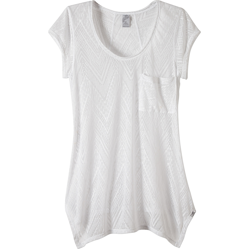 PrAna Skyler Top XL - White - PrAna Womens Apparel - Apparel & Footwear, Women's Apparel