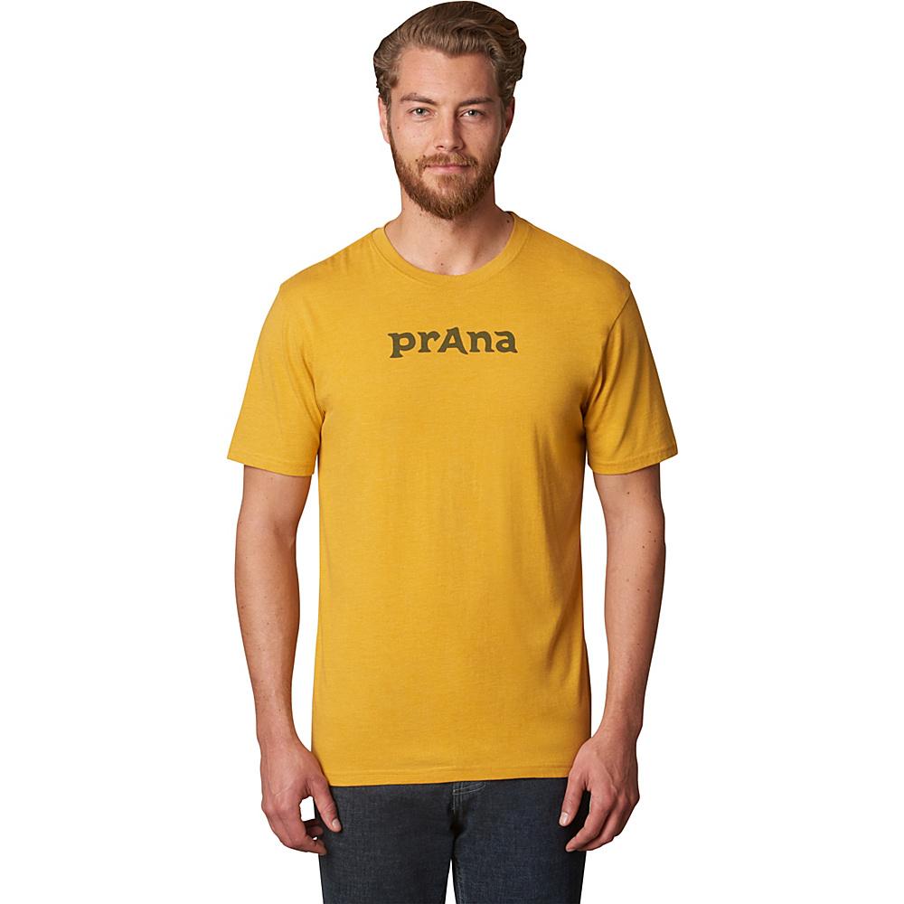 PrAna Logo Shirt XL - Marigold - PrAna Mens Apparel - Apparel & Footwear, Men's Apparel