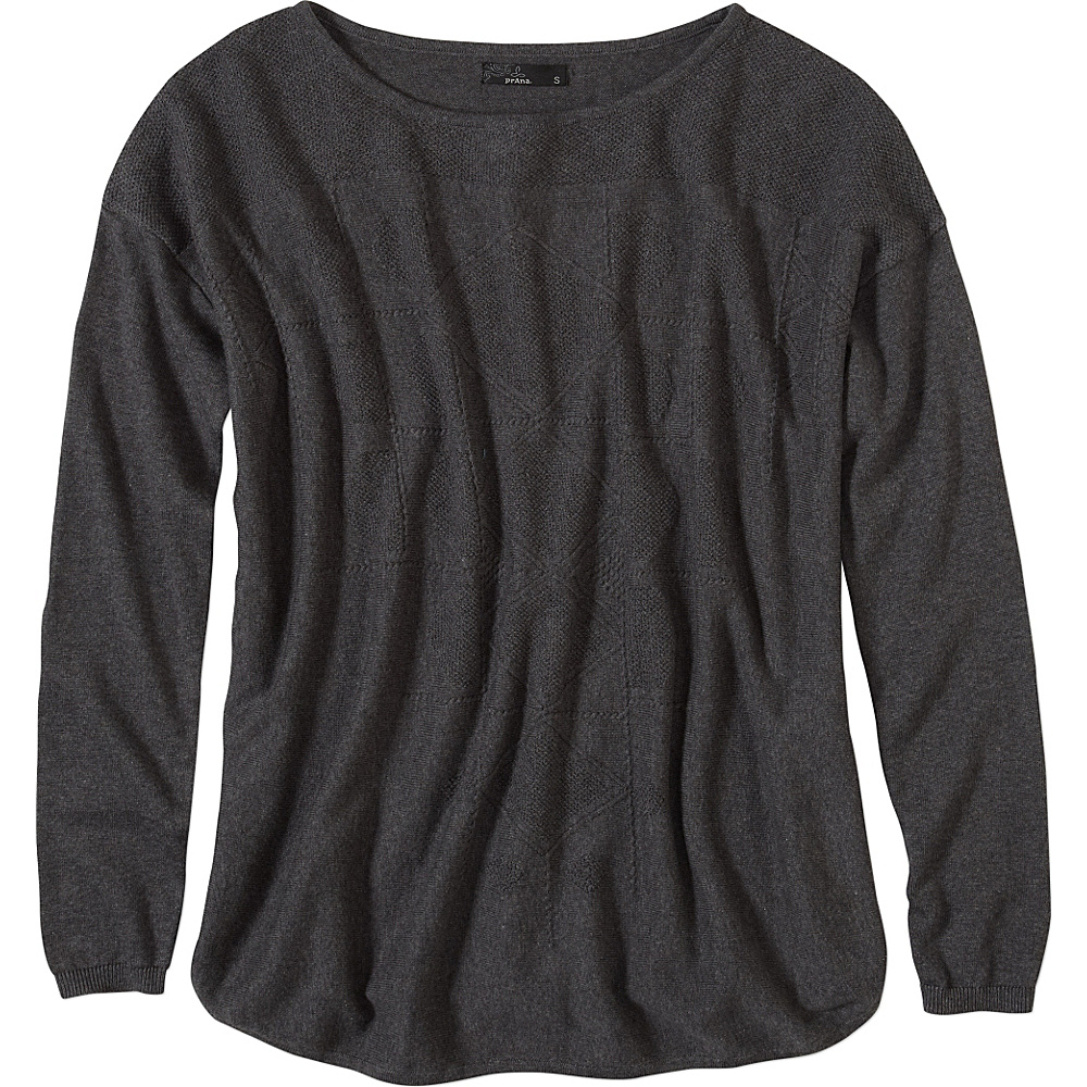 PrAna Stacia Sweater M - Charcoal - PrAna Womens Apparel - Apparel & Footwear, Women's Apparel