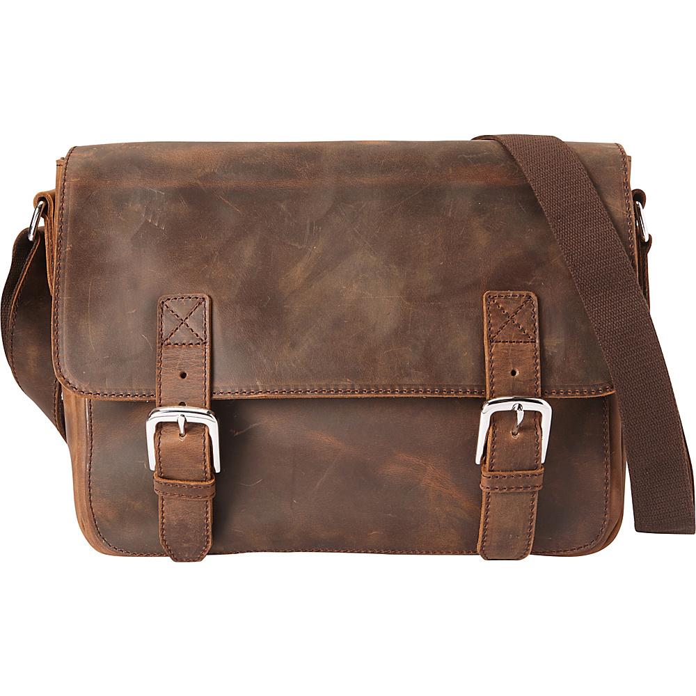 Vagabond Traveler Full Grain Cowhide Leather Casual Messenger Bag Vintage Brown - Vagabond Traveler Messenger Bags - Work Bags & Briefcases, Messenger Bags