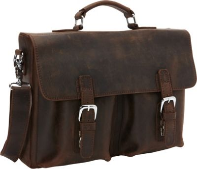 Vagabond Traveler Full Grain Leather Business Pro Case Di...