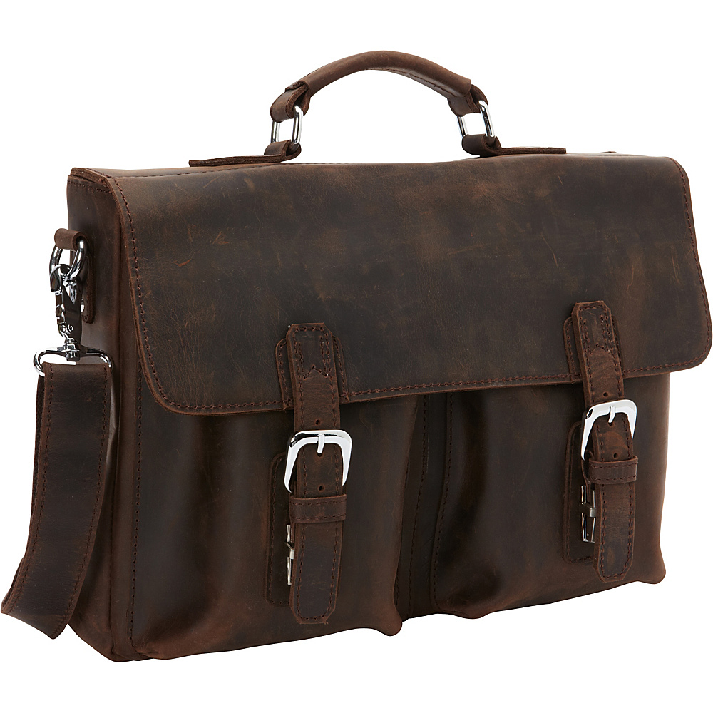 Vagabond Traveler Full Grain Leather Business Pro Case Distress - Vagabond Traveler Non-Wheeled Business Cases - Work Bags & Briefcases, Non-Wheeled Business Cases
