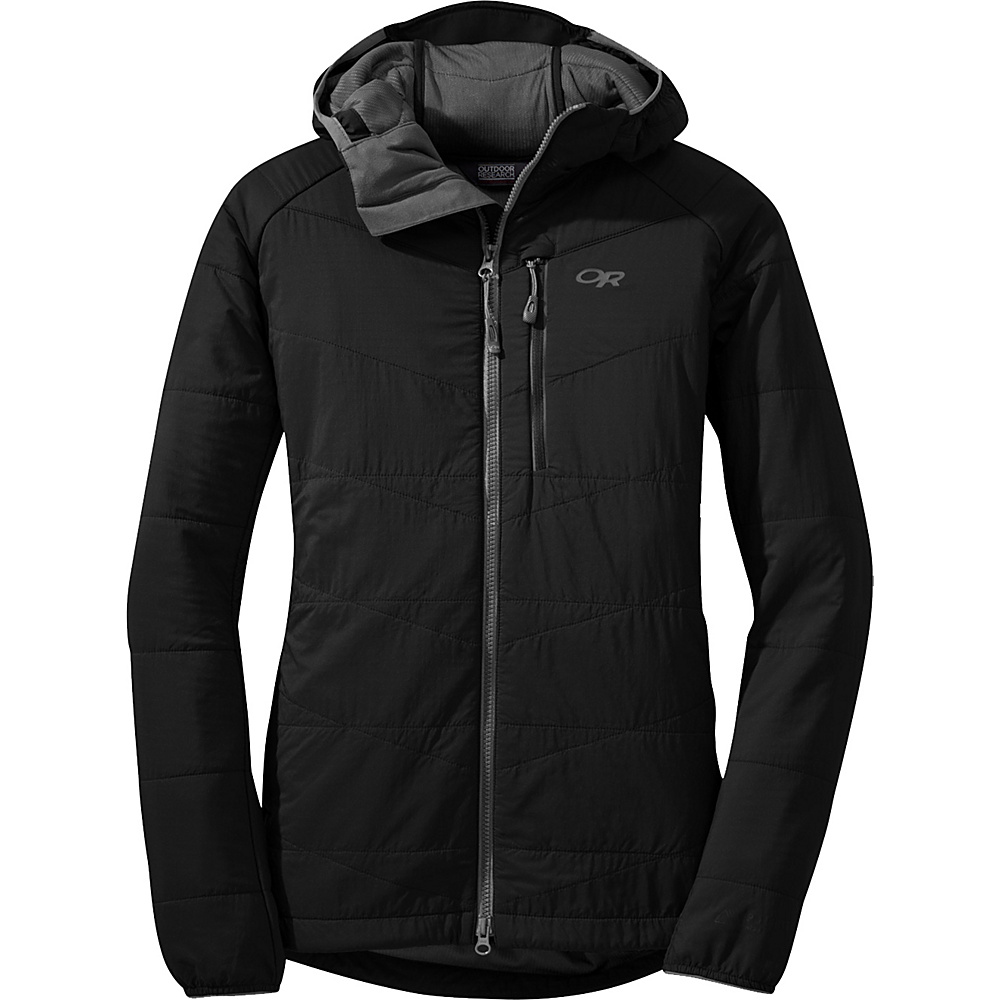 Outdoor Research Womens Uberlayer Hooded Jacket XS - Black - Outdoor Research Womens Apparel - Apparel & Footwear, Women's Apparel