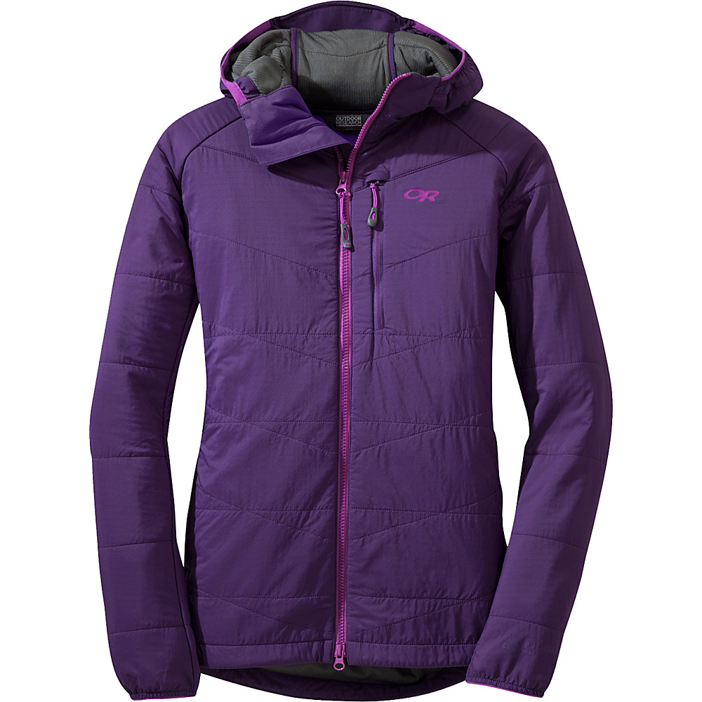 Outdoor Research Womens Uberlayer Hooded Jacket XS - Elderberry - Outdoor Research Womens Apparel - Apparel & Footwear, Women's Apparel