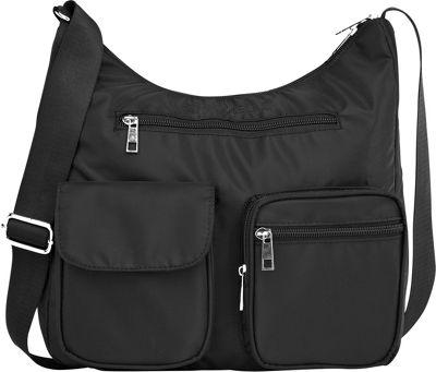 Suvelle Carryall RFID Travel Everyday Shoulder Bag Black - Suvelle Fabric Handbags