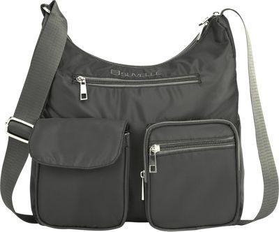 Suvelle Carryall RFID Travel Everyday Shoulder Bag Grey - Suvelle Fabric Handbags