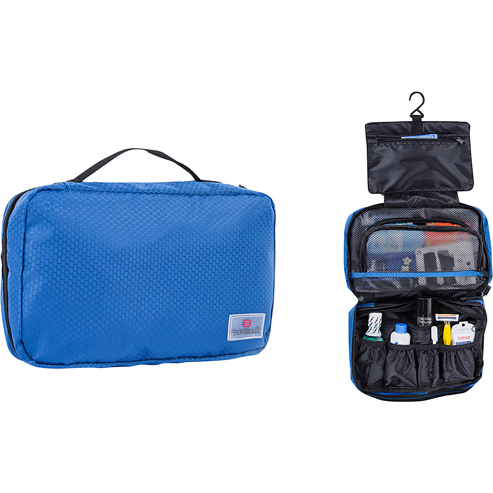 Suvelle Hanging Toiletry Travel Kit Organizer Blue Suvelle Toiletry Kits