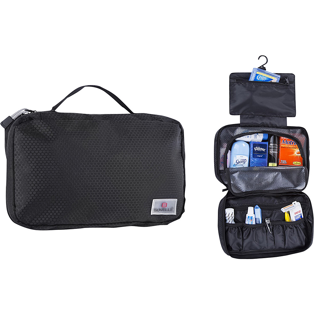 Suvelle Hanging Toiletry Travel Kit Organizer Black Suvelle Toiletry Kits