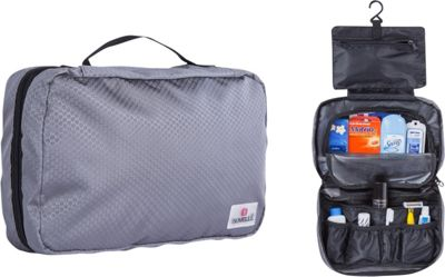 Suvelle Hanging Toiletry Travel Kit Organizer Grey - Suvelle Toiletry Kits