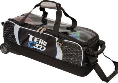 Columbia 300 Bags Team Columbia Slim Triple Roller Black/Silver - Columbia 300 Bags Bowling Bags