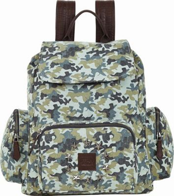 Bella Taylor Rucksack Green - Bella Taylor Fabric Handbags