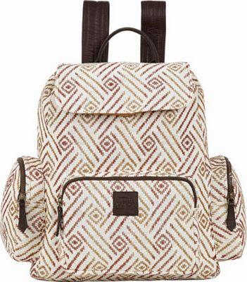 Bella Taylor Rucksack White - Bella Taylor Fabric Handbags